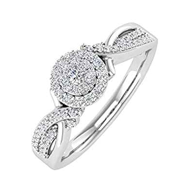 Diamond Weight Variance can be +/- 0.02 carat as we try to get you the best matching diamonds. Set in 10K White Gold. Diamonds are natural and Conflict-free. 30 Days No Question asked Return Policy. Elegantly packed in a jewelry box.