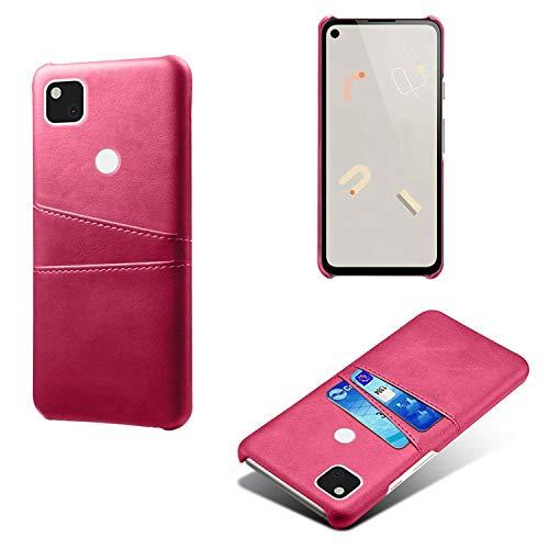FHZXHY - Custodia a portafoglio in pelle PU per Google Pixel 4A (5.8 pollici 2020) Rosso rosato