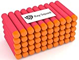 Ray Squad Red 60-Pack Nerf Mega Set, Nerf Compatible Foam Toy Darts by, Premium Refill Bullets for N-Strike Guns, Universal Mega Pack, Firm and Safe Nerf Compatible Accessories