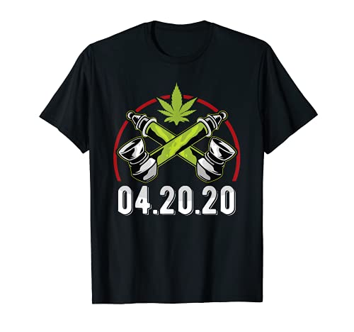 04.20.2020 - Cannabis Stoner - Marihuana de fumador de malas hierbas 420 Camiseta