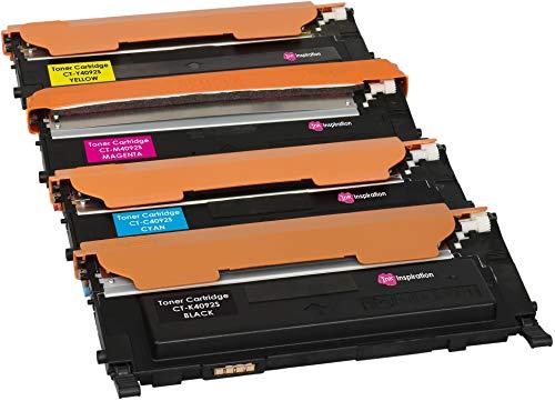 4 Tóners compatibles para Samsung CLP-310 CLP-310N CLP-315 CLP-315W CLX-3170 CLX-3170FN CLX-3175 CLX-3175FN CLX-3175FW CLX-3175N CLT-K4092S 1500 páginas CLT-C4092S CLT-M4092S CLT-Y4092S 1000 páginas