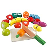HVDHYY Jouets en Bois Fruits et Légumes Decouper Aliment de Cuisine Jeux de...