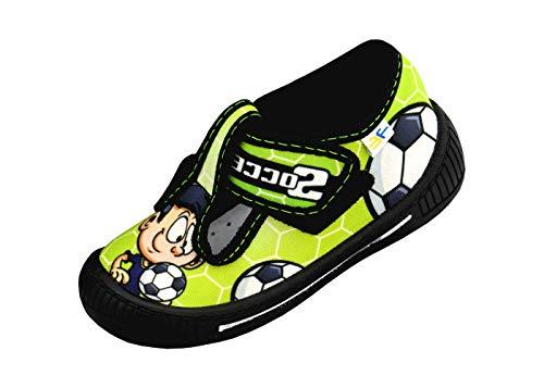 3f freedom for feet Scarpe per Bambini Ragazzi Bambino Sandali Sportivi Stili Diversi Ragazzo Neonati Culle Prescolare 1-3 Anni Fissato con Velcro con Solette in Pelle (27, Verde 2SK3/7)