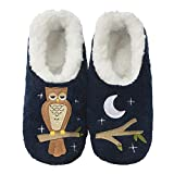 Snoozies Womens Pairables - Funny Slippers for Women - Womens Slippers - House Slippers - Up Owl Night - Medium