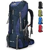 Doshwin 70L Sac à Dos de Camping Trekking Randonnée Voyage (avec Housse...