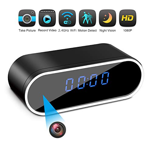 Hidden Camera Clock Spy Camera WiFi Wireless Full HD...