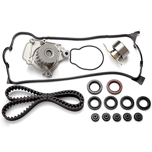 Timing Belt Kit including timing Belt water pump with gasket tensioner bearing etc,OCPTY Compatible for 1996 1997 1998 1999 2000 Honda Civic/1996 1997 Honda Civic del Sol