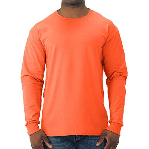 Jerzees Men's Adult Long Sleeve Tee - Safety Orange