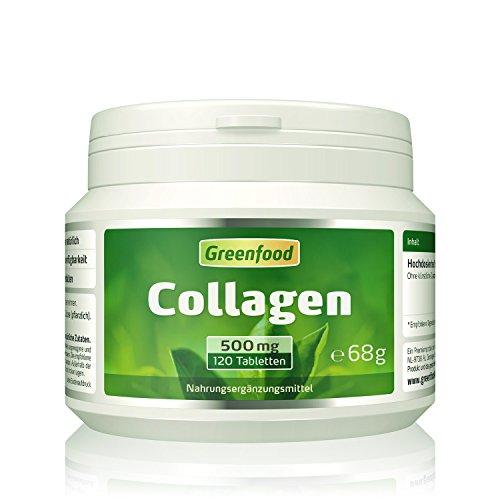 Collagen, 500 mg, hochdosiert, 120 Tabletten – natürliches Collagenhydrolysat. OHNE künstliche Zusätze, ohne Gentechnik.