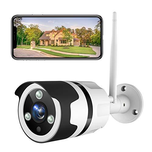 Telecamera di Sorveglianza Esterna,Netvue 1080P Telecamera di Sicurezza Telecamere Videosorveglianza Visione Notturna,Telecamera alexa con IP66 Impermeabile,Cloud, compatibile con Alexa (bianco)