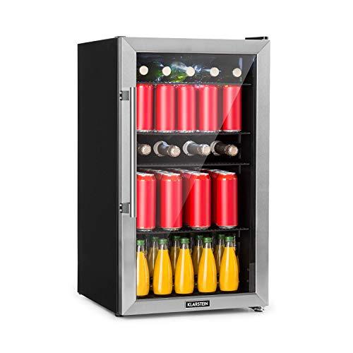 KLARSTEIN Beersafe XL - Refrigeratore Bevande, Frigorifero, Ripiani in Metallo, Porta a Vetro, Classe Energetica F,...