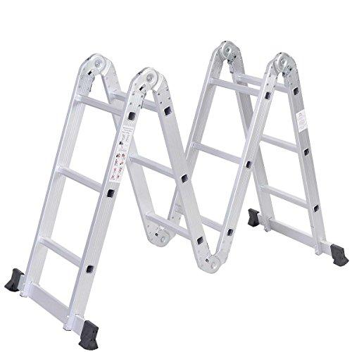 Safeplus Aluminum Lightweight Multi Task Ladder,...