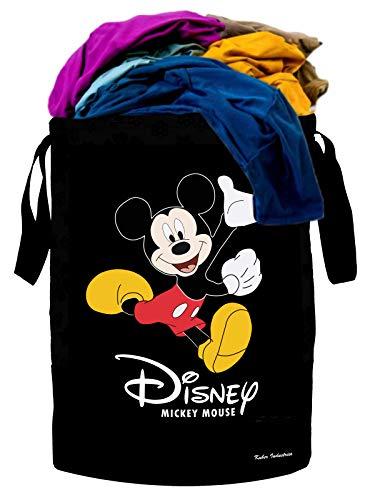 Kuber Industries Disney Print Waterproof Canvas Laundry Bag, Toy Storage, Laundry Basket Organizer...