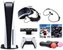 2021 The Newest Playstation Console and Playstation VR Bundle PS5 Disk Version w/Wireless Controller, PSVR Headset, Camera, Move Motion Controller, Iron Man Game