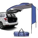 Wisamic Abri de soleil d'auvent de voiture - toit de tente de porte de hayon arrière de tente de remorque