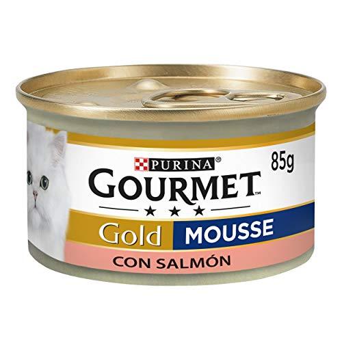 Purina Gourmet Gold Mousse comida para gatos con Salmón 24
