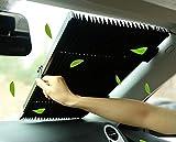 MarvellousCar Windshield Sun Shade,Accordion Style Retractable Sun Shade,Front Window UV Heat Insulation Universal Car Sun Shades Keep Your Vehicle Cool