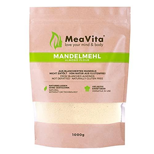 Farine d'amandes MeaVita, naturelle, blanchie, 1 paquet (1 x 1000g) en sachet (Épicerie)