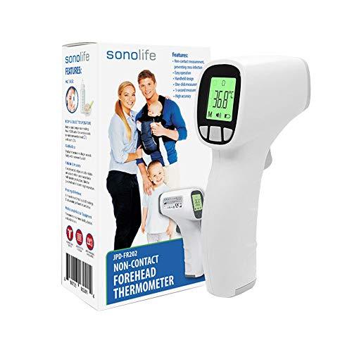 Sonolife - Termómetro Infrarrojo para Bebés, Adultos y Superficies - Medición de Temperatura sin Contacto, vía Infrarrojo