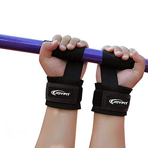 JoyFit Weightlifting Straps- For Weightlifting, Strength Training, Deadlift, Bodybuilding Crossfit and MMA, with Neoprene Padding and Wrist Support Suited for Both Men and Women [Pair]