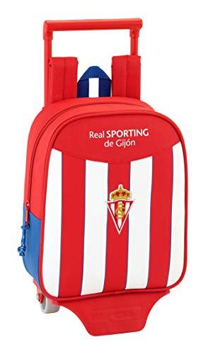 Safta Mochila Real Sporting De Gijon Oficial Guardería Con Carro Safta 220x100x270mm