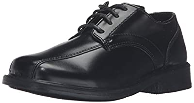 A dapper lace-up to spruce up any ensemble. Synthetic leather upper. Bicycle toe. Lace-up front. Lightly padded insole. Man-made sole. Measurements: Weight: 7 oz Product measurements were taken using size 2 Little Kid, width M. Please note that measu...