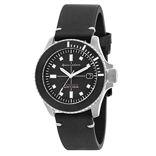 SPINNAKER Spence Herren-Armbanduhr 41.5mm Armband Leder Automatik SP-5063-01