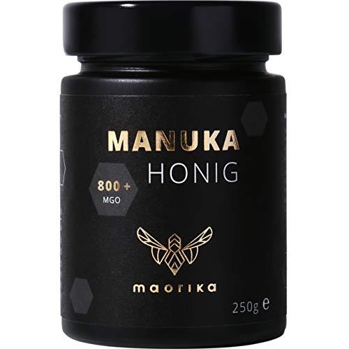 maorika - Manuka Honig 800 MGO + 250g im Glas (lichtundurchlässig, kein Plastik) - laborgeprüft