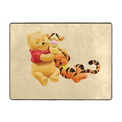 Winnie The Pooh and Tiger Soft Area Rugs Bedroom Carpets for Living Room Bedroom Kids Room Girls Room Nursery Home Decor Carpet 63 X 48 Inches