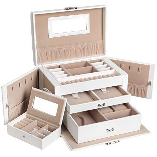 SONGMICS Jewelry Box, Jewelry Organizer Case with...