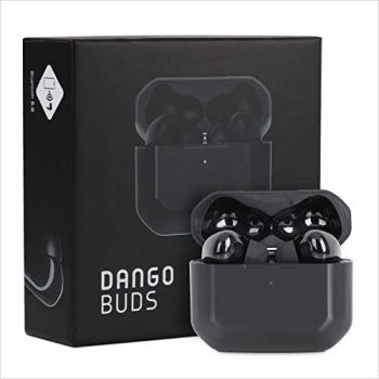 DANGOBUDS True Wireless Earbuds with Microphone – Noise Cancelling Earbuds and Wireless Headset   Bluetooth Earbuds for Gaming and Workout   Sport Earbuds with Earbud Case (Black)