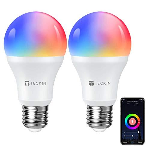TECKIN Bombilla LED Inteligente WiFi Luces Cálidas RGB...
