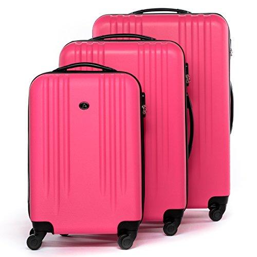 FERG set di 3 valigie viaggio Marsiglia - bagaglio rigido dure leggera 3 pezzi valigetta 4 ruote...