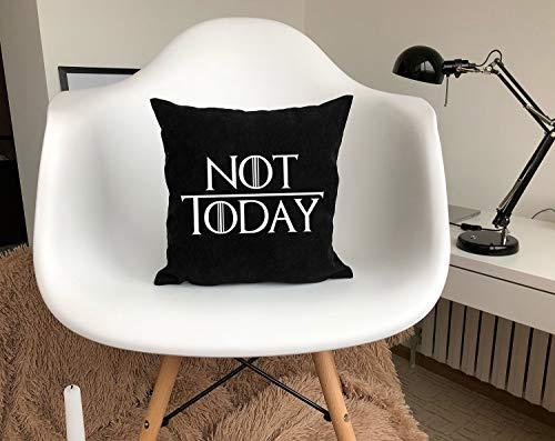 Se556th Not Today Funda de Almohada Arya Stark Juego de Tronos Almohada Got Stark Arya Not Today Monograma Home Decor vm166