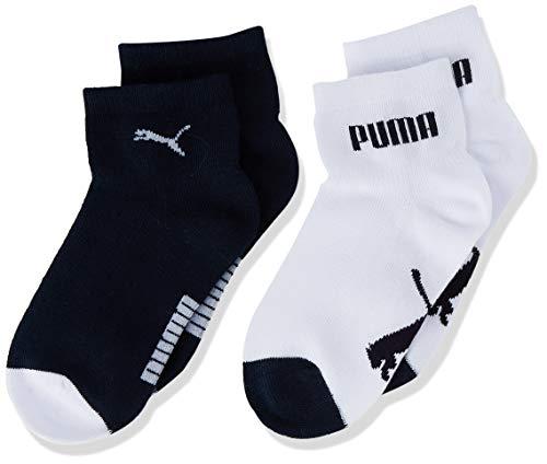 PUMA Baby Mini Cats Lifestyle Socks (2 Pack) Calzini, New Navy/White, 27/30 (Pacco da 2) Unisex-Bimbi