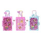 6Wcveuebuc La moda de viaje maleta de muñeca accesorios de los niños juguetes equipaje para muñeca Barbie