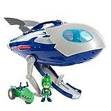 PJ Masks-95120 Ducati Aventuras En La Luna-Nave Espacial y Moto Rover, Multicolor (Mattel 95121)