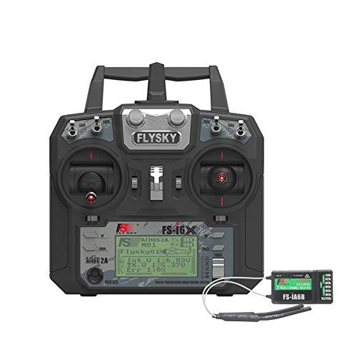 RUIZHI Flysky FS-i6X Radiocomando, 10CH 2.4GHz AFHDS RC Trasmettitore con FS-iA6B RC Ricevitore for RC Multirotor Drone Quadcopter