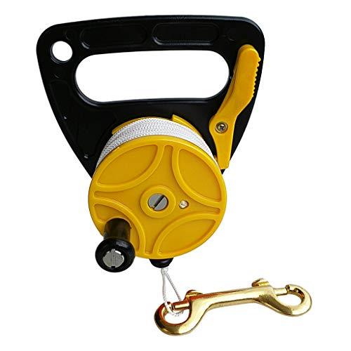 IPOTCH Scuba Diving Reel Mulinello da Sub Finger Reel Spool 83m Adatto a Subacque - Giallo