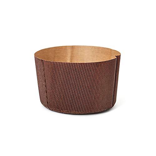 DECORA Envoltorio para hornear Canasta de papel apto para horno, celulosa, marrón, ø 13 x h 9.5 cm