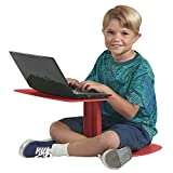 ECR4Kids The Surf Portable Lap Desk, Laptop Stand, Writing Table, Kids' Travel-Friendly Tray, Flexible Collaborative Seating for Teens and Adults, One-Piece Desk, GREENGUARD [Gold] Certified, Red
