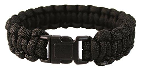 Mil-Tec Paracord Bracelet 22mm Noir Taille M