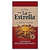 La Estrella Café Molido de tueste natural y torrefacto descafeinado - Descafeinado Mezcla - Paquetes de 8 x 250 g - Total: 2 kg