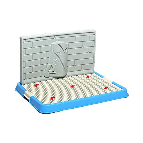 Locisne Haustier-Welpen-Toiletten-Mit wand Hündchen-Trainings-Töpfchen-Flecken-Trainings-Auflage-bewegliche Haustier-Park-Eck-Toilette für Hunde (S Wand, blau)