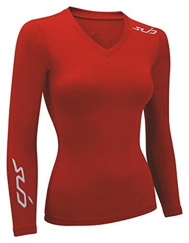 Sub Sports Damen Dual All Season Kompression Long Sleeve Base Layer S rot