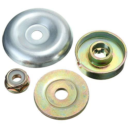 Kit de fixation d'écrou de lame en métal pour débroussailleuse, 4 adaptateurs de tête de débroussailleuse, adaptateur de lame de rechange pour tondeuse à gazon (comme illustré)