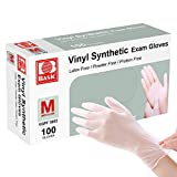 Disposable Gloves, Squish Clear Vinyl Gloves Latex Free Powder-Free...