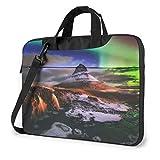 15.6″Durable Hombro Mensajero Bolsa maletín PC Montaña Aurora Moda Impermeable Ordenador Portátil/portátil/Tablets