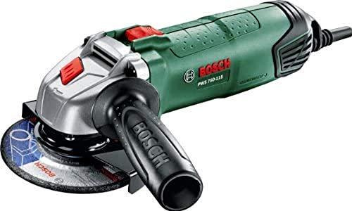 Meuleuse angulaire compacte Bosch - PWS 750-115 (Ø 115 mm, capot de protection, poignée anti-vibrations, livrée sans disque)