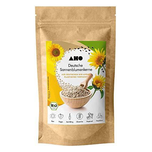 AHO Deutsche Sonnenblumenkerne 300g | Lokales Superfood aus Deutschland | Bio, Vegan, Plastikfrei, Regional (300g)